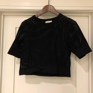 A.L.C.  Black cropped sweater
